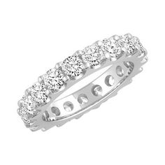 White Gold Prong Set Round Diamond Eternity Band 3ctw - Item JM1759   REEDS Jewelers