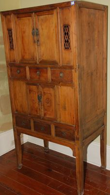 chinese bamboo kitchen cabinet | armoires / cabinets asian