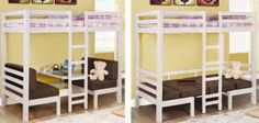 Twin Size Convertible Loft Bed ==> http://www.lovedesigncreate.com/coaster-fine-furniture-460273-convertible-loft-bed-twin-white-finish/