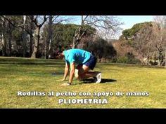 4.6.18 - PLIOMETRIA rodillas al pecho con apoyo de manos en el suelo