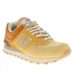 best service c74ca f64ef Walk on sunshine with the New Balance 574 Suede and Mesh II trainer. This  retro silhouette is a shining example of running style done well, with its  orange ...