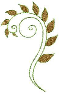 Floral swirl 1 (AISUFL19) Embroidery Design by Adorable Ideas