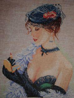 la femme au rouge à lèvres de lanarte
