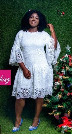 Latest African Fashion Dresses, African Dresses For Women, African Attire, Church Dresses, Evening Dresses, Lace Dress Styles, Applique Wedding Dress, Curvy Girl Fashion, Clothing Styles