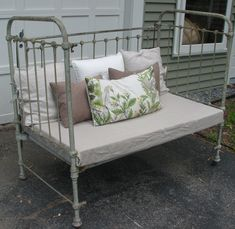antique french iron daybed crib - Google Search