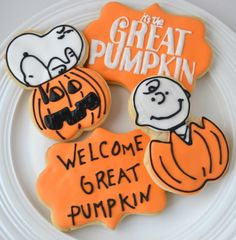 Charlie Brown cookies and Its The Great Pumpkin Charlie Brown