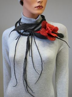 Necklace | Regina Doseth. Merino felted wool. by Jinx62