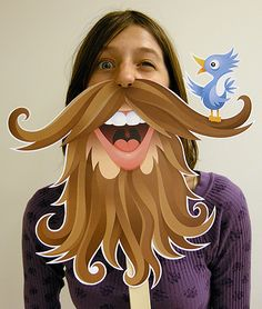 Everybody loves a good Photo Booth don't they? Personally, we can't resist jumping in one if it includes any sort of extravagant hat or mustache! Is it a little extreme to say we want our very own photo booth in our office? We think not! And since the props are so EASY to make why not make your own photo booth too? Hang up a funky sheet, grab your camera & get printing out some of these awesome FREE props! 1. Movember may be over...but these rad mustaches & beards from Creativ...