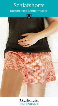 Sleep Shorts Women's Shorts Summer pajamas Free sewing pattern Free sewing instructions Source b Sewing Patterns Free, Free Sewing, Dress Patterns, Free Pattern, Knitting Patterns, Crochet Patterns, Pattern Sewing, Sewing Dress, Sewing Clothes