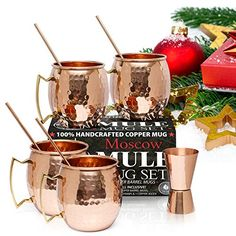 Moscow Mule Copper Mugs - Set of 4 - 100% HANDCRAFTED - P... https://www.amazon.com/dp/B01LW4B7GK/ref=cm_sw_r_pi_dp_x_lF-wybJZBKWAS