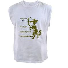 SAGITTARIUS Sleeveless Tee> SAGITTARIUS MEN'S T-SHIRTS & CLOTHING> Wanda's T-Shirts and Stuff $17.99