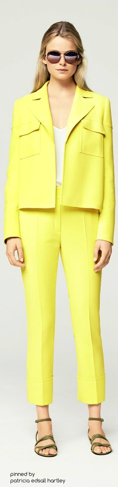 Yellow women fashion outfit clothing style apparel @roressclothes closet ideas