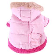 Pink Dog Coat Pocket Parka