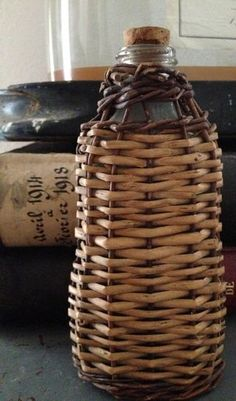 Single bottle sized demi john....perfect to add to a picnic or tailgate basket.  xo--FleaingFrance
