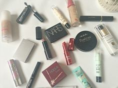 My everyday make up bag! Including items from NARS, Benefit, Max Factor, MeMeMe, Bourjois, Maybelline and more!