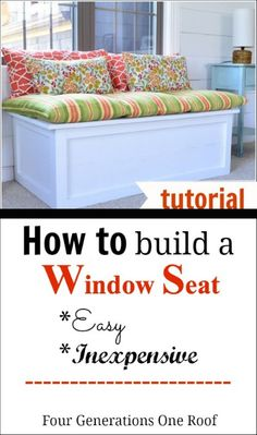 How To Build A Window Seat {tutorial