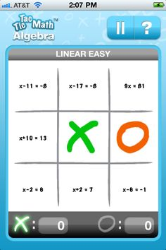 App Shopper: Tic Tac Math Algebra (Games) Great iPad game for solving equations.