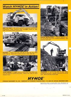 Heavy Construction Equipment, Heavy Equipment, Vintage Trucks, Old Trucks, Big Time, Brochures, Locomotive, Hampshire, Vintage Posters