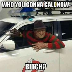 Who ya gonna call now? Horror Movies Funny, Horror Movie Characters, Scary Movies, Horror Stories, Funny Relatable Memes, Stupid Funny Memes, Funny Stuff, Scary Funny, Scary Stuff