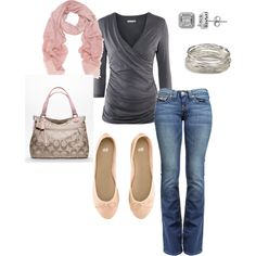 pink & gray casual, created by dudleygirl2.polyvore.com