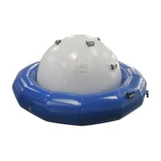 Blue white 2.5M inflatable Saturn Rocker pool float for sale, more water games wholesale at Sunjoy Inflatables.