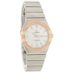 OMEGA LADIES CONSTELLATION 18K/SST FULL BAR SWISS QUARTZ WATCH  - Brushed-polished 18K Rose Gold & Stainless Steel Case and Bracelet  - Silver Dial  - Rose Gold Tone-luminous Hour & Minute Hands - Rose Gold Tone Line Hour Markers  - Roman Numeral Hour Markers on Bezel - Full Bar 18K Gold Links - Sapphire Crystal - Water Resistant - Swiss Quartz Movement 18k Rose Gold, 18k Gold, Omega Ladies, Expensive Dresses, Women's Dress Watches, Bar, Stainless Steel Case, Silver Bracelets, Quartz Watch