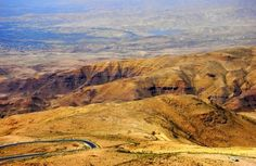 Mount Nebo, Jordan where Moses and Joshua viewed the Promised Land after wandering 40 years in the Sinai desert