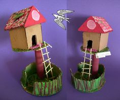 Tree House - Cardboard maybe fairy house! Cardboard Tubes, Cardboard Crafts, Cardboard Play, Art For Kids, Crafts For Kids, Arts And Crafts, Art Projects, Projects To Try, Home Crafts
