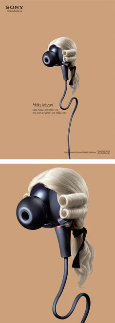Musical Icons Campaign by Sony Earphones icon Daily design inspiration for creatives Creative Advertising, Print Advertising, Advertising Campaign, Print Ads, Marketing And Advertising, Guerrilla Marketing, Grid Design, Graphic Design, Web Design