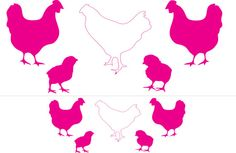 Stencils of hens small medium large chickens, baby chicks, hens, multi pack by PerfectionEtching, $12.00
