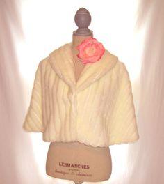 White color and light faux fur women's capelet shawl bolero tunic, Great Gatsby wedding bridal dress faux fur shrug accessory by 777DressCode, $49.85