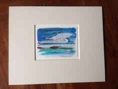 Lone Rocks-Maine - Original Acrylic Sketch by Olivia Atherton, theRandoMshoE dot com Etsy dot com