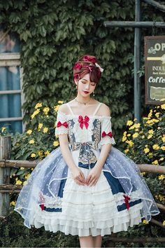 Buy classic lolita dresses from trustworthy brand lolita manufacturers now. Gothic Dress, Lolita Dress, Gothic Lolita, Harajuku Fashion, Lolita Fashion, Dress Outfits, Cute Outfits, Estilo Lolita, Fantasy Dress