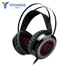 HOT YOUNGES Brand headphones YG-K3 PC CFLOL Gamer Gaming Headset Microphone Gaming Headphones Glow LED 3.5mmUSB Headset