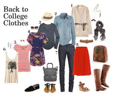 Back to college clothes cluster for lots of outfit options