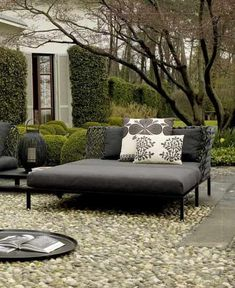 20 Stunning Patio Bench with Cushions That Fit For You Before you decide on buying the cushions, you must consider the colors and patterns. We share you about the stunning patio bench with cushions for you. Outdoor Seating, Outdoor Rooms, Outdoor Sofa, Outdoor Gardens, Outdoor Living, Outdoor Decor, Outdoor Day Beds, Grey Outdoor Furniture, Patio Bench