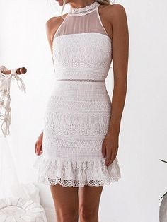 womens fashion outfits which looks fab. Cute Homecoming Dresses, Sexy Wedding Dresses, Prom Dresses, Summer Dresses, Classy Dress, Classy Outfits, White Engagement Dresses, Dress Vestidos, Event Dresses
