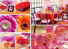 Orange and pink color palette