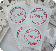 Personalized Wedding Day Stickers / Envelope Seals - Vintage - Rustic - Cottage Chic - Set of 20 - Save the date - Any color on Etsy, $13.27 AUD