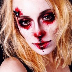 Bloody Butterfly by - mel et fel Halloween Outfits, Halloween Look, Halloween Face Makeup, Face Charts, Lipgloss, Butterfly, How To Make, Blog, Inspiration