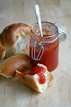 Tomato Jam  *** This is the closest to my Mom's recipe that I have found