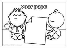 Voor papa Frokkie en Lola hebben een hele mooie tekening gemaakt voor hun vader, speciaal voor vaderdag.