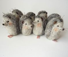 Original Needle Felted Hedgehog  Pin Cushion  by MissBumbles