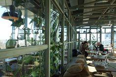 NENI Berlin restaurant at 25hours Hotel Bikini Berlin, located in a greenhouse