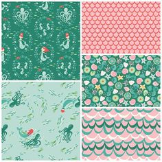 Mermaid Crib Bedding Set, Mermaid Merriment Nursery Bedding, Customizable Baby…