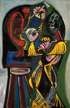 Emil Filla - Socharka / Sculptress, 1946, oil on canvas and plywood
