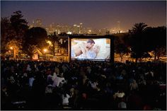Outdoor Movies | #thecampblog www.thecampblog.com #campcollection
