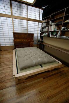 "Top Beds: Real Kyoto ••Tatami Platform Bed•• ""Miya Shoji"" shop: Twin $5000 / Full & Queen $8k / King $15k • Tatami matts: 35 3/4″ x 71 1/2″ x 2-2 1/4″ or Non-traditional size  30″ x 80″ x 2 1/4″ $1200"