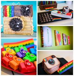 Instagram Themed Joint Birthday Party with Lots of Really Cute Ideas via Kara's Party Ideas Kara Allen KarasPartyIdeas.com #instagramparty #...