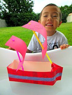 SavingSaidSImply.com - Kids Craft Idea: Milk Carton Boats